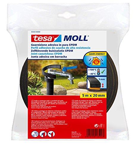tesa-05443-00000-00-perfil-aislante-de-caucho-epdm-5-m-x-20-mm-x-5-mm-color-negro