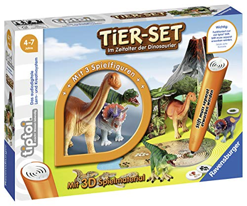Ravensburger tiptoi 00746 - Tier-Set: Im Zeitalter der Dinosaurier