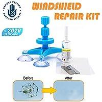 【 2020, actualización 】 Juego de reparación de parabrisas, kit de reparación Windshield para chip y crack, Bullseye, red de araña, forma de estrella, muescas, media luna