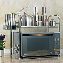 XUE Estanterías De Microondas De Acero Inoxidable Suministros De Cocina  Estanterías De Almacenamiento 01eff1398718