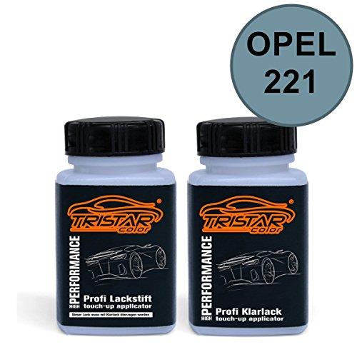 Preisvergleich Produktbild Lackstift Set OPEL 221 AQUAMARINBLAU M. / AQUAMARINE BLUE M. 1977 - 1983 - Autolack & Klarlack - je 50 ml