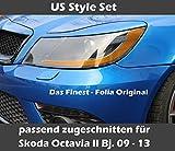 Uns Stil Scheinwerfer Set V2Pass zugeschn. Film für Skoda Octavia II RS