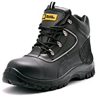 Mens Safety Boots Steel Toe Cap S3 SRC Work Shoes Ankle Leather 7752 Black Hammer
