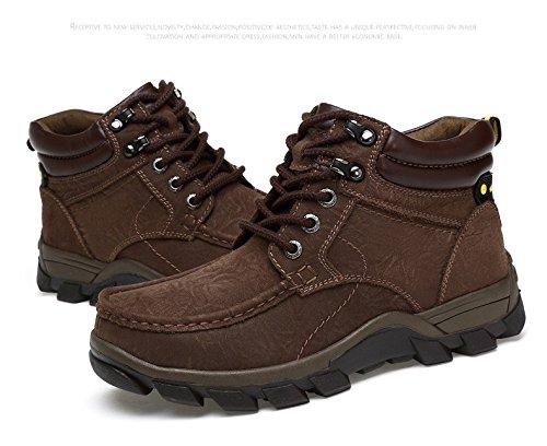 HHY-Confortevole e breathableWinter alta aiutare caldo calzature outdoor antiscivolo codice grandi uomini scarpe da escursionismo Dark brown plus cashmere