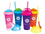 Chillfactor Slushy Maker Slush Eis Becher Tutti Frutti TV Original Magic Freez BCdirekt (blau)