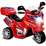 Baybee Samurai Battery Operated Ride On Bike with Music, Horn, Headlights with 25 Kg Weight Capacity ( Red )