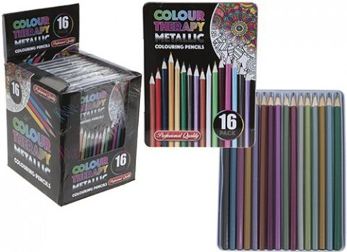 16-piece-asst-colour-therapy-pro-metallic-pencils-in-tin-case