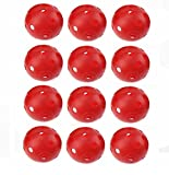 40 mm balle de golf en plastique rouge Airflow, Lot de 12