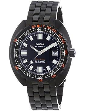 DOXA SUB 5000T Military Edition Sharkhunter PVD Herren Automatik Uhr mit schwarzem Zifferblatt Analog-Anzeige...