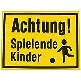 Alpertec Schild Achtung spielende Kinder, gelb / schwarz, 48071530
