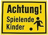 Alpertec Schild Achtung spielende Kinder, gelb/schwarz, 48071530