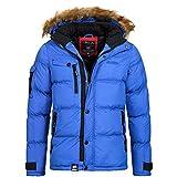 Geographical Norway / Anapurna Herren Winterjacke Jacke Outdoor Warm Gefüttert Behar/Biwa Gr. S-XXXL, Größe:XL;Farbe:Blau