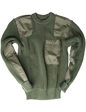 Maglione Bw import., taglie varie, colore verde oliva, Verde (oliva), 58