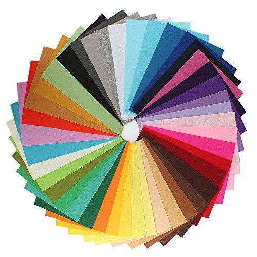gespout Fieltro plástico Fieltro Mezcla Multicolor hecho a mano fele Fabric poliéster DIY Decoración para los hecha a mano alfombra 42Color 20cm x 30cm