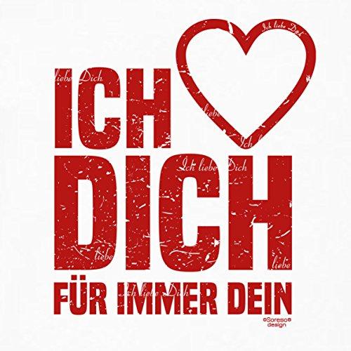 Ich liebe Dich :: Kissen inkl. Füllung :: Romantische Geschenkidee für Verliebte Geschenk für Frauen & Männer Liebe Liebesbeweis Liebeskissen Farbe: weiss