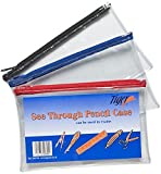 Tiger pencil case - clear see through - short 20x12cm x 1 single