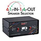 Nobsound - Selector de Altavoces estéreo de 4 Puertos, 200 W por Canal