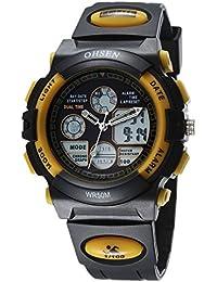 OHSEN Reloj Hombre Mujer Reloj De Moda De Deportivo Multifunción Cronómetro Impermeable Digital Con Calendario - Negro / Amarillo