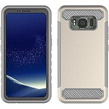 Samsung Galaxy S8 Active Case, Instanttool Slim Shockproof Backcase Back case Protective Case,High Impact Defender Bumper Case for Samsung Galaxy S8 Active Golden