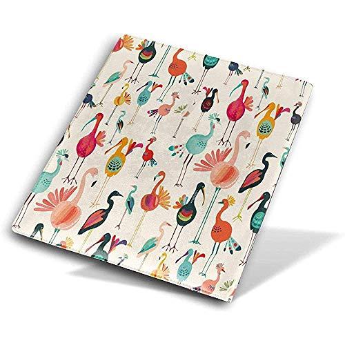 Flamingo und die Türkei PU-Leder-Bucheinband-Buch-Hülse wiederverwendbare haltbare wasserdichte Buch-Schutzvorrichtungen für Kursteilnehmer-Arbeitskraft -