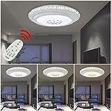 HG® 36W Markant Design Lámpara de techo LED Dimmable Ronda Cristal Luz de techo Sala Efecto Starlight