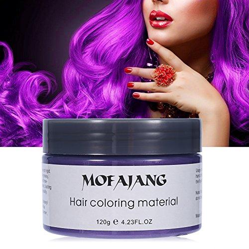 x, Einweg Hair Wax Haar Styling Modellierung Haar Forming Cream für Männer oder Frauen Party Wachs Kapillare (Violett) (Forming Cream Starker Halt)