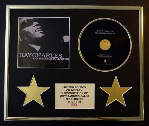 ray-charles-cd-display-limited-edition-coa-the-essential-collection