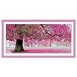WINOMO Kit de Broderie au Point de Croix de Sakura Fleur Arbre Décoration...