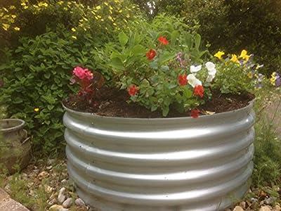 Garden Raised bed metal galvanised steel circular 90 cm diameter planter no base