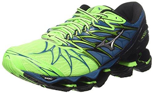 Mizuno Wave Prophecy 7, Zapatillas de Running Para Hombre, Multicolor (Greengeckosilverbluesapphire), 42.5 EU