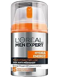 L'Oréal Men Expert Hydra Energy Feuchtigkeitspflege Anti-Müdigkeit, 6er Pack (6 x 50 ml)