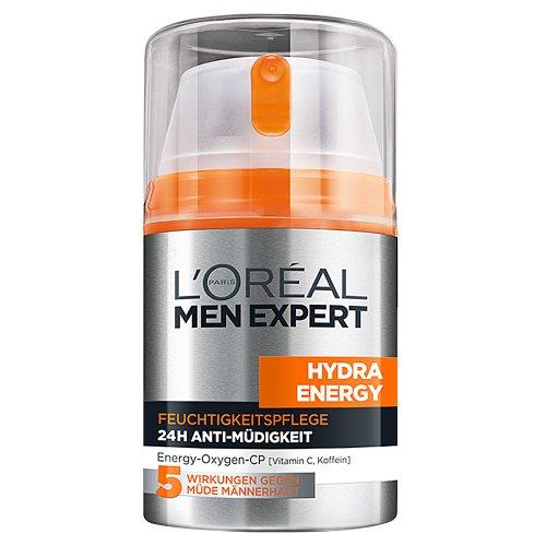 L\'Oreal Men Expert Hydra Energy 24H Anti Müdigkeit, Feuchtigkeitspflege für den Mann mit Vitamin C (6 x 50 ml)