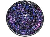 Deko - Schale Glasmosaik rund lila violett blau / glitter 30cm