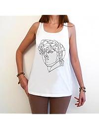 David Michel Ange T-Shirt Femme photo de star,Blanc, t shirt femme,cadeau