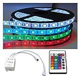 KOMPLETT SET: 5m - 30m LED RGB mehrfarbig Strip/Streifen / Stripes wasserfest mit Netzteil + Controller + Fernbedienung (25m (5x 5m))