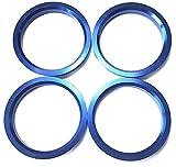 4 Zentrierringe aus Alu // Aluminium in Blau 66,6 mm - 57,1 mm 66,6 auf 57,1