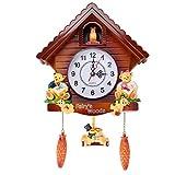 Joyfitness Orologio a cucù Vintage Orologio da Parete per Soggiorno Orologio a cucù per Uccelli Orologio Orologio Moderno per Bambini