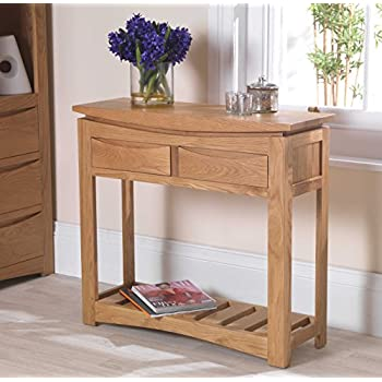 oak hall tables. Crescent Solid Oak Hallway Furniture Console Hall Table Tables