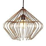 MAADES Design Vintage Pendelleuchte Lampe | Hängeleuchte Hooper Kupferfarbig Ø = 40cm, geeignet für E27 Leuchtmittel | Diese Deckenlampe ist für Ihre Küche, Wohnzimmer oder über den Esstisch