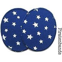 Set 2 Knieflicken Sternchen Flicken zum Aufbügeln für Kinder