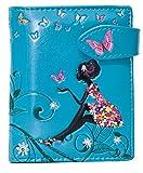 Shagwear Junge-Damen Geldbörse, Small Purse: Verschiedene Farben und Designs: (Schmetterling Oase Aquamarin/ Butterfly Oasis)