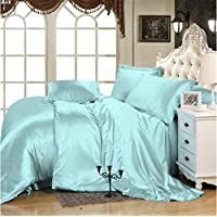 Selection Bedding Comfort Silk Sheet 7-Piece Set Comes with 1 Flat Sheet 1 Fitted Sheet 1 Duvet Cover & Four Pillowcases…