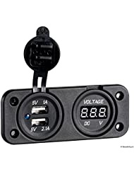 Voltmetro digitale e presa USB doppia