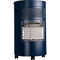 FAVEX EKTOR Design Chauffage au gaz Bleu, 41,5x46x73 cm