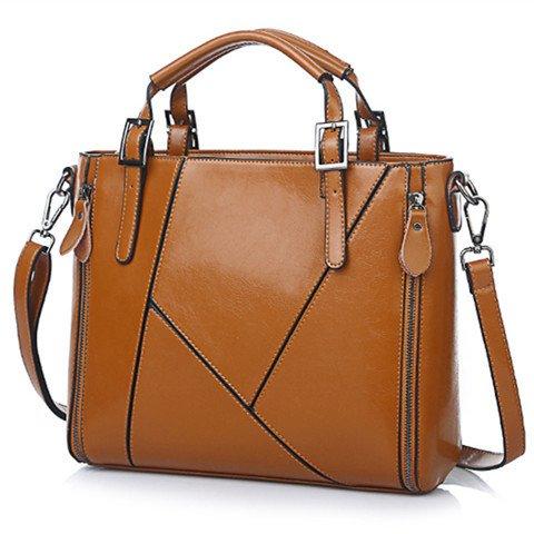 Mefly Messenger Bag Borsa a tracolla Borsa olio nuovo cera Pu sacco piacere Claret brown