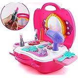 KAGAVD BRAND Kitchen Set / Doctor Set / Beauty Set / Sweet Shop Cart Trolley Toys For Girls & Boys, Multi Color. (BEAUTY SUITCASE, PINK)