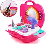 #6: KAGAVD BRAND Kitchen Set / Doctor Set / Beauty Set / Sweet Shop Cart Trolley Toys For Girls & Boys, Multi Color. (BEAUTY SUITCASE, PINK)