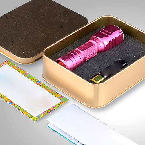 XM Stift Zur Detektion Von Fluoreszierendem Agens, Violettes Licht, Gefälschtes Uv-Licht, Jade-Test, Taschenlampe,Rosa C,Taschenlampe