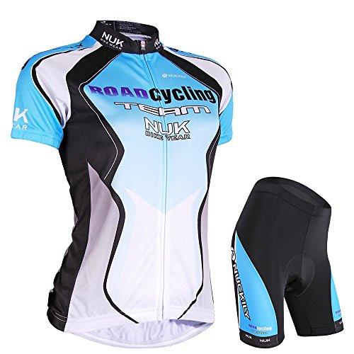 Nuckily Damen-Fahrradtrikot Passende Gepolsterte Kurz Sweet Girl Radbekleidung Small blau