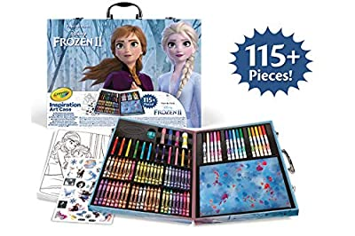 Crayola-04-0635 Maletín del Artista Disney Frozen 2, para Dibujar y Colorear, 115 Pzs, Multicolor (04-0635) por Crayola